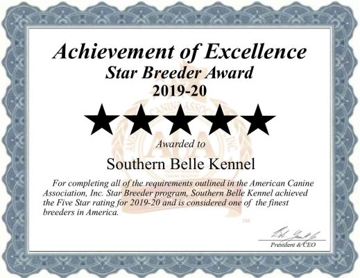 southern, belle, kennel, dog, breeder, certificate, southernbelle, southern-belle-kennel, broken, bow, ok, broken-bow, oklahoma, puppy, dog, kennels, mill, puppymill, 5-star, ACA, ICA, registered, show handler, goldendoodles